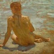 Sketch Of Nude Youth Study For Morning Spelendour Art Print