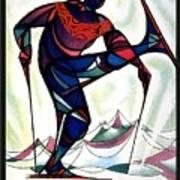 Ski Colorado, United States - Colorado Winter Sports - Retro Travel Poster - Vintage Poster Art Print