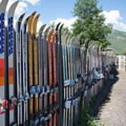 Ski Fence Art Print
