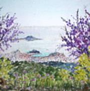 Skiathos Town And Judas Trees Art Print