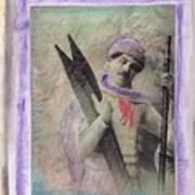 Skiboarder Around 1930 Art Print