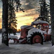 Skidder Sunrise Print by Heather  Rivet