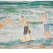 Skim Boarding Daytona Beach Art Print