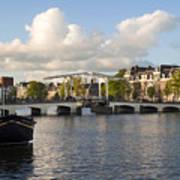 Skinny Bridge In Amsterdam Art Print