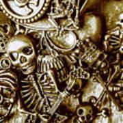 Skull And Cross Bone Treasure Art Print