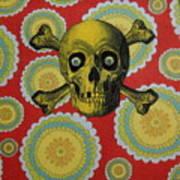 Skull And Cross2 Art Print