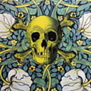 Skull And Cross4 Art Print
