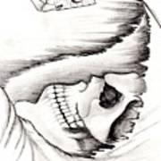 Skull Gambler Art Print