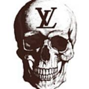Skull Lv Braun Art Print