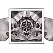 Skull Mandala Series Nr 1 Art Print by Deadcharming Art