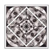 Skull Mandala Series Number Two Art Print by Deadcharming Art