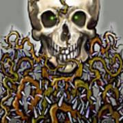 Skull N Thorns Art Print