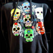 Skull T Shirts Day Of The Dead  Art Print