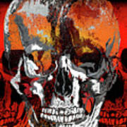 Skull Times Three Larger Size Art Print