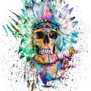 Skull - Wild Sprit Art Print