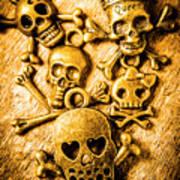 Skulls And Crossbones Art Print