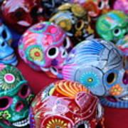 Skulls Day Of The Dead  Art Print