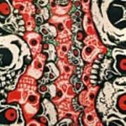 Skulls Infinate Art Print