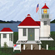 Skunk Bay Lighthouse Art Print