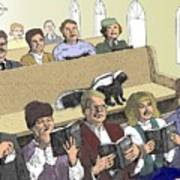 Skunk Goes To Church - Sits In Own Pew Art Print