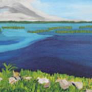 Serene Blue Lake Art Print