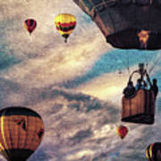 Sky Caravan Hot Air Balloons Art Print