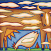 Sky Cow Art Print