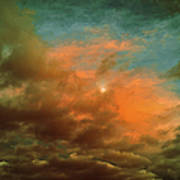 Sky Moods - When The Moons Behind The Clouds Art Print