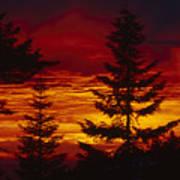Sky Of Fire Art Print