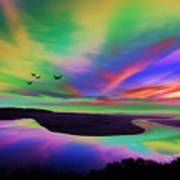 Sky Rays Art Print