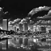 Skyline Along The River Art Print