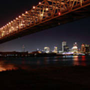 Skyline Bridge Art Print