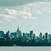 Skyline From Gwb 2 Art Print