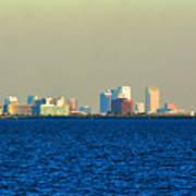 Skyline Of Tampa Bay Florida Art Print