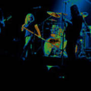 Skynyrd Sf 1975 #10 Crop 2 Enhanced In Cosmicolors Art Print