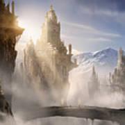 Skyrim Fantasy Ruins Art Print