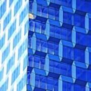 Skyscraper Blue Art Print