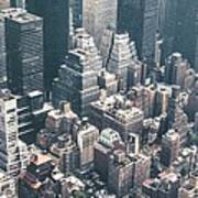 Skyscrapers View From Above Building 83641 3840x1200 Art Print