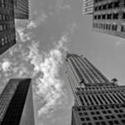 Skytops Manhattan Black And White Art Print