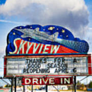 Skyview Drive-in Theater Art Print