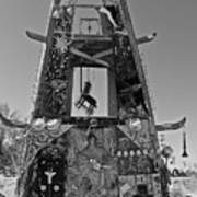 Slab City Museum Tower Bw Art Print