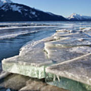Slabs Of Ice Art Print