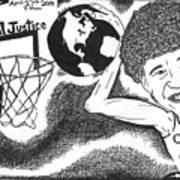 Slam Dunk Social Justice Art Print by Yonatan Frimer Maze Artist