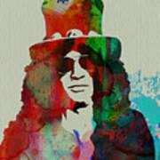 Slash Guns N' Roses Art Print by Naxart Studio