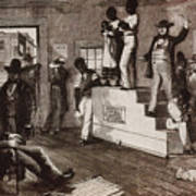 Slave Auction In Virginia Art Print by Photo Researchers