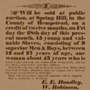 Slave Auction Art Print