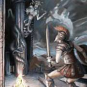 Slay The Gorgon Art Print