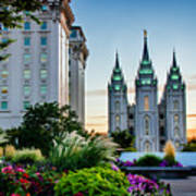 Slc Temple Js Building Art Print