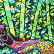 Sleep To Dream Silkpainting Belize Art Print