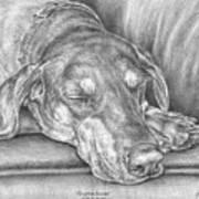 Sleeping Beauty - Doberman Pinscher Dog Art Print Art Print by Kelli Swan